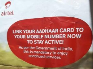 How To Link Your Aadhaar Card With Airtel Mobile Number