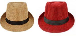 Flipkart - Eccellente Solid Fidora Hat Cap (Pack Of 2)In Just Rs 229