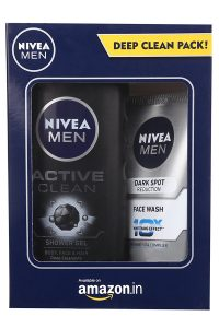 Amazon - Nivea Men Dark Spot Reduction Facewash+Active Clean Shower Gel In just Rs 192