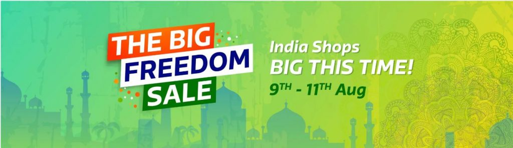 Flipkart Freedom Sale - Huge Discount + Additional Offer 9th-11th Aug