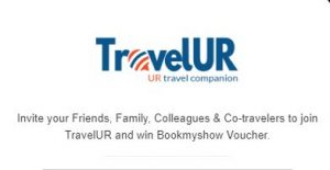TravelUR - Refer 3 Friends and Get Free Rs 100 BookMyShow Voucher