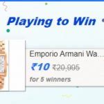 Flipkart Play and Win offer : Get Emporio Armani Watch in Just Rs.10