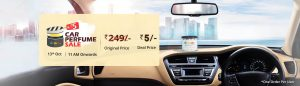 Droom Rs.5 Flash Sale of Car Perfume - Get Car perfume worth Rs 249 in Rs 5
