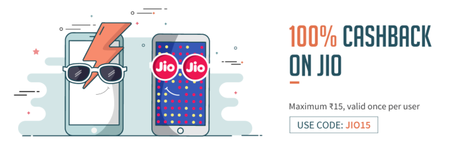 Freecharge offer - Get 100 mb 4g data free on jio sim