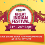 Amazon great indian Sale - Diwali offers and heavy Discounts (21st to 24th September)