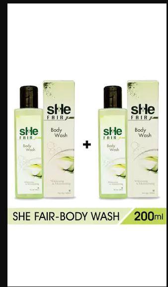Shefair Body Wash 200ml for Whitening & Moisturising