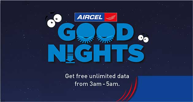 Aircel Free Internet Trick - Get Unlimited Data In night Offer (3am to 5am)