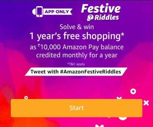 (Answer Added) Amazon festive Riddles – Solve & Win 1 Year's Free Shopping