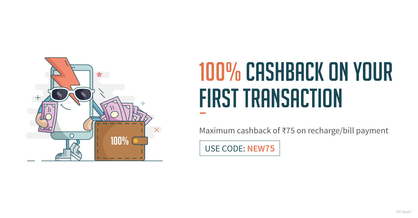 Get Rs.75 free Recharge from Freecharge App for New Users