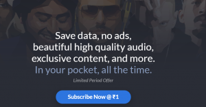 Saavn Pro Offer - Get 1 Month Subscription at Just Rs.1