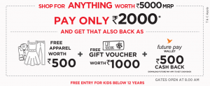 Brand Factory Loot - Get Rs.5000 Shopping Fully Free on Outlet Store