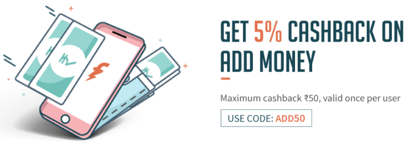 Freecharge Add Money Offer - Get 5% Cashback on Add Money