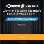 (10th November Answers) Amazon One Plus 5t Quiz – Answer & Win One Plus 5t