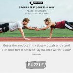 Amazon Sports Fest - Guess Puzzle and Win Rs.2500