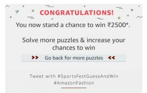 3rd december Answers) Amazon Sports Fest - Guess Puzzle and