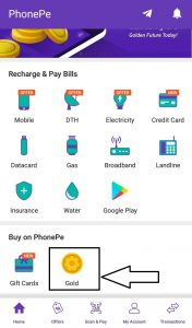 PhonePe Gold Offer - Flat ₹100 Cashback on 1st Gold Purchase transaction