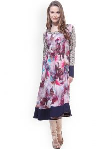Myntra Deal - Get La Firangi Multicoloured Printed Anarkali Kurta At Rs.299 Only