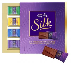 Amazon - Buy Cadbury Miniatures Collection Dairy Milk Silk, 200g in just Rs 225 (50% Off)