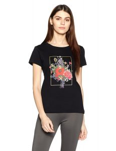 Amazon - BuySymbol Women's Graphic Print Round Neck Cotton T-shirt in just Rs.149