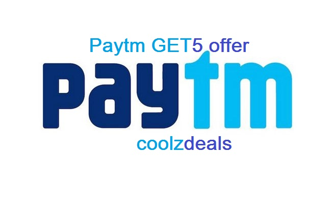 Paytm GET5 : Get Rs 5 Cashback on Rs 10 Recharge (10 Times / Day)