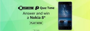 (All Answers)Amazon Nokia 8 Quiz - Answer and Win Nokia 8 Smart Phone