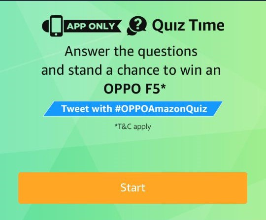 (Answers Added) Amazon Oppo F5 Quiz Answers