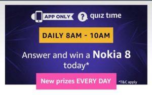 AmazonNokia 8 Quiz Answers