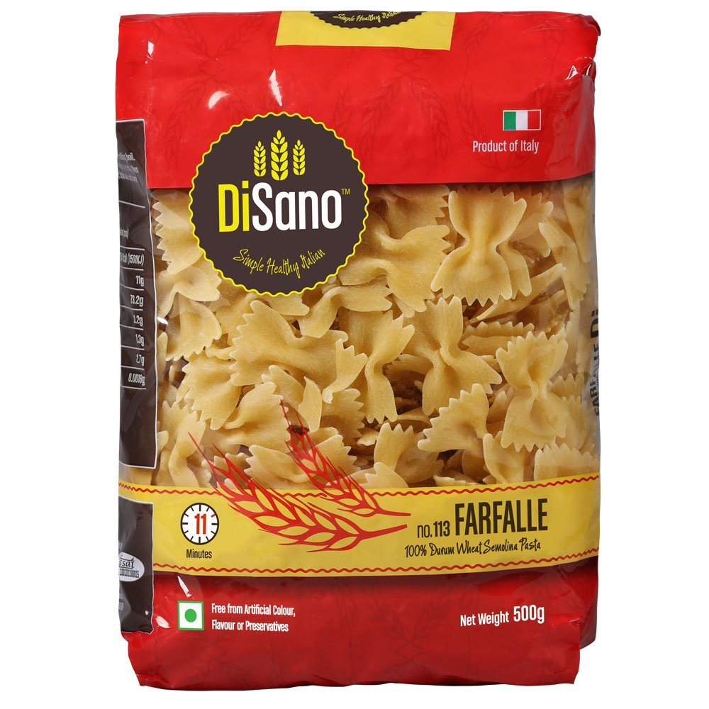 Amazon -Buy Disano Farfalle Durum Wheat Pasta, 500g in just Rs 67