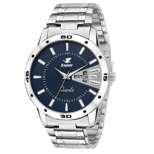 Amazon - Buy Espoir Analogue Blue Dial Men's Watch in just Rs 499
