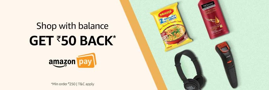 Get Rs.50 Cashback on Shopping with Amazon Pay Balance