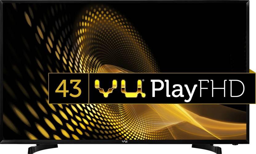 Flipkart - Buy Vu 109cm (43 inch) Full HD LED TV in justRs 22,999