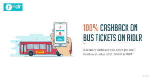 Freecharge Ridlr Offer - 100% Cashback on Tickets