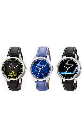 PaytmMall- Buy Jack Klein 3 Watches Pack in just Rs.99