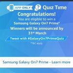 (22 February) All Answers of Amazon Samsung Galaxy On 7 Quiz