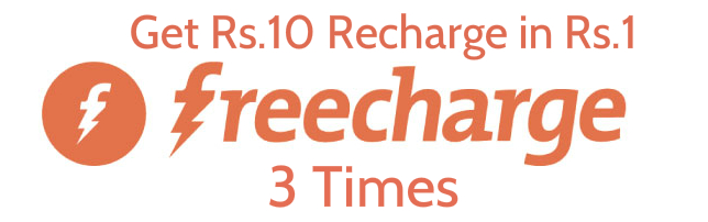 Freecharge offer - Get Rs 30 Recharge In Just Rs 3