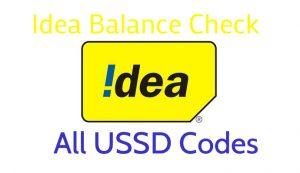 Idea Balance Check - Idea USSD Codes for 2G/3G/4G Data, Main Balance