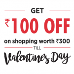 FBB Valentine's Day Offer - Get Rs.100 Off on Order of Rs.300 or More