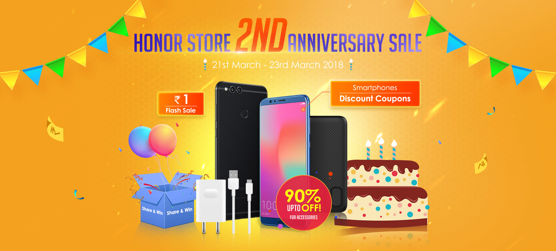 Honor Flash Sale - Rs. 1 Sale and Honor Smartphone in Best Price