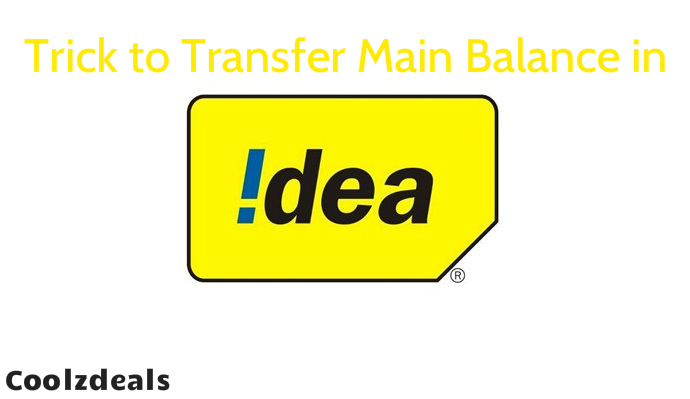 Trick to Transfer Idea Main Balance Talktime to Others