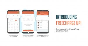 Freecharge UPI Offer - Get 100% Cashback up to Rs.50