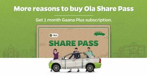Gaana Free Subscription - Purchase Ola Share Pass and get Free Subscription