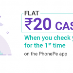 Free PhonePe Cash - Get Rs.20 on Checking your bank balance