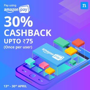 Niki App Amazon Offer - Get 30% Cashback up to Rs.75 with Amazon Pay Balance
