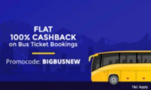 Paytm Bus Tickets Offer - Get 100% Cashback on Bus Ticket Booking