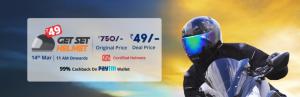 Droom.in Flash Sale - Get helmet worth Rs.750 in Rs.1
