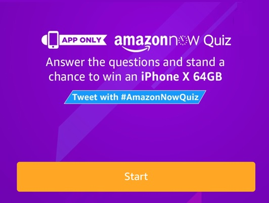 (All Answers) Amazon Now Quiz - Answer & Win iPhone X 64 GB