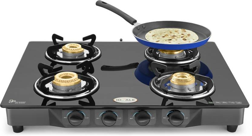 Flipkart - Buy Ideale Quatre-T Steel Manual Gas Stove  (4 Burners) at Rs.1,999 Only