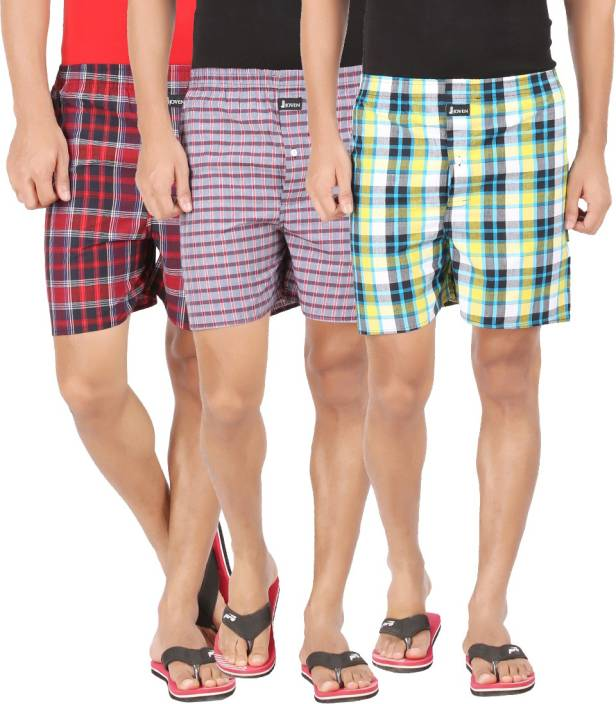 Buy Joven ML-6 Checkered Men's Boxer (Pack of 3) in Just Rs.499