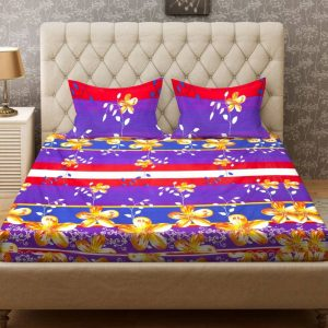 Buy Bombay Dyeing Double Floral Bedsheet from Just Rs.299