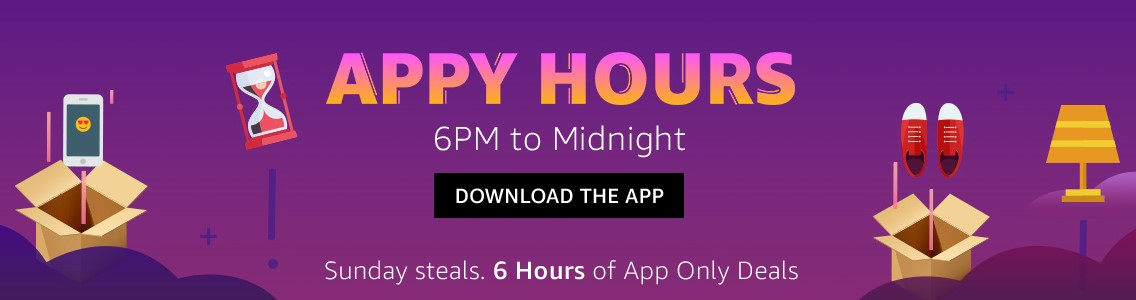 Amazon Appy Hours - Get Sunday Steal Deals Only on App (6 Hours)